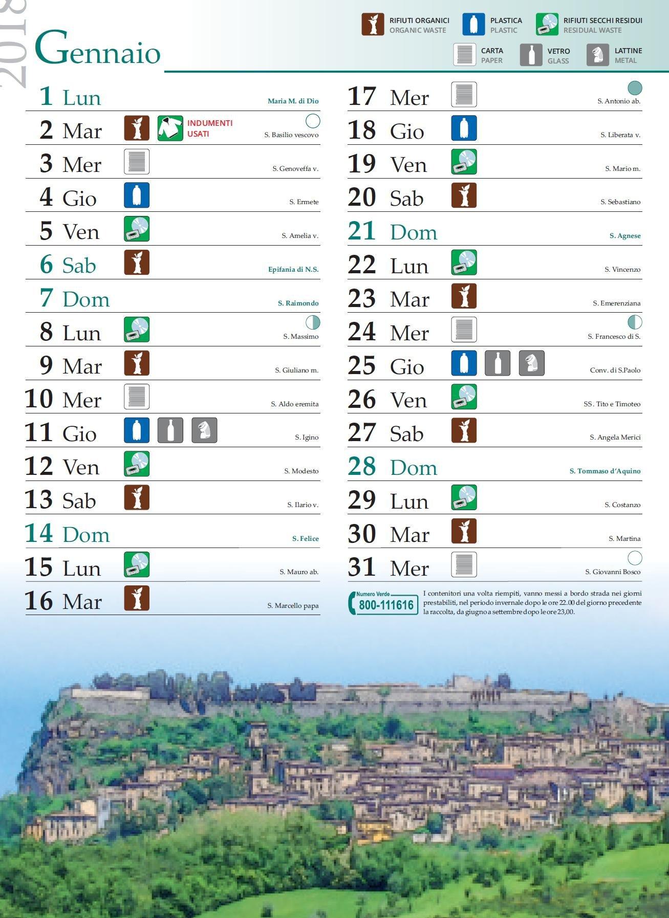 Calendario Raccolta Differenziata Teramo.Comune Di Ancarano
